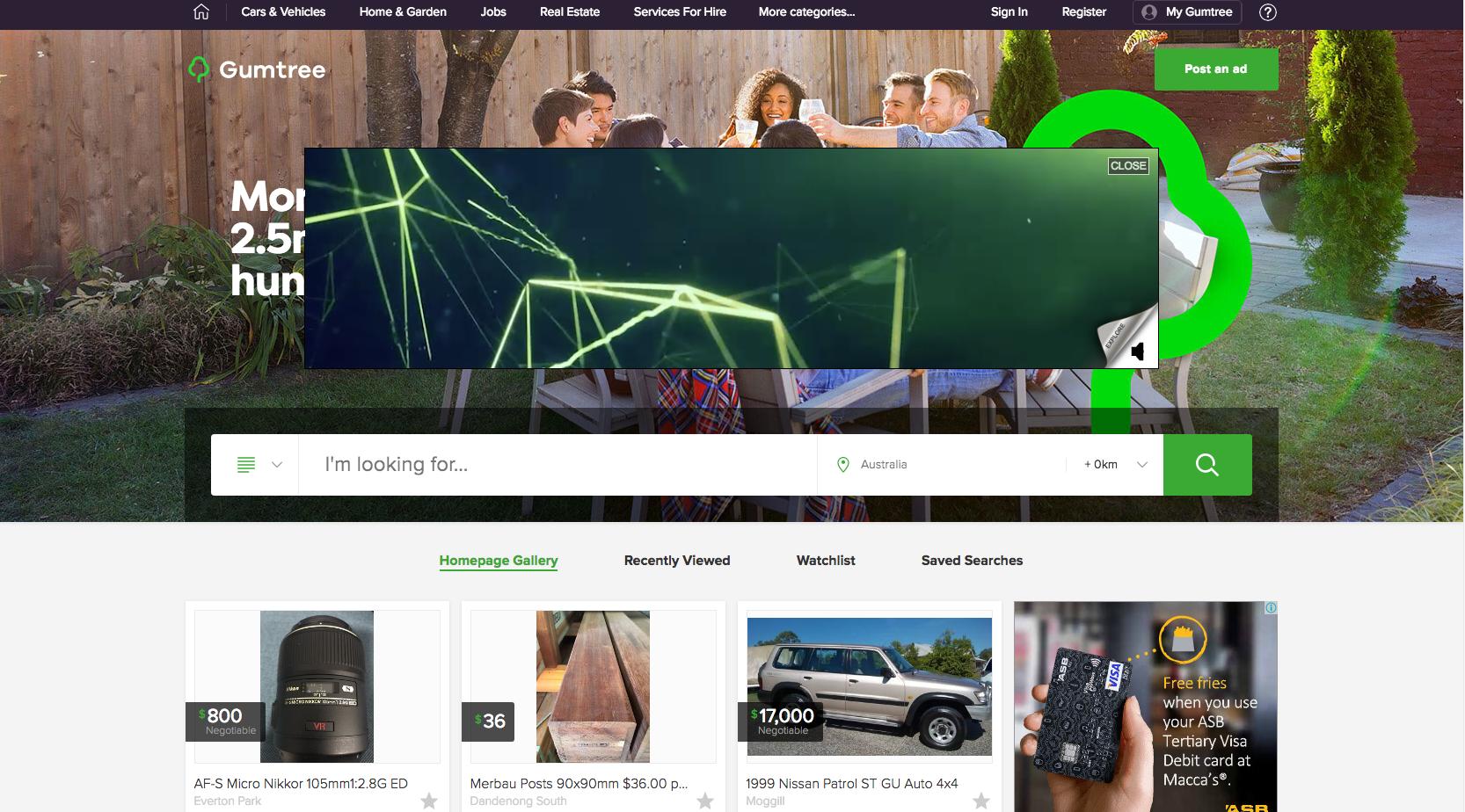 gumtree modern website