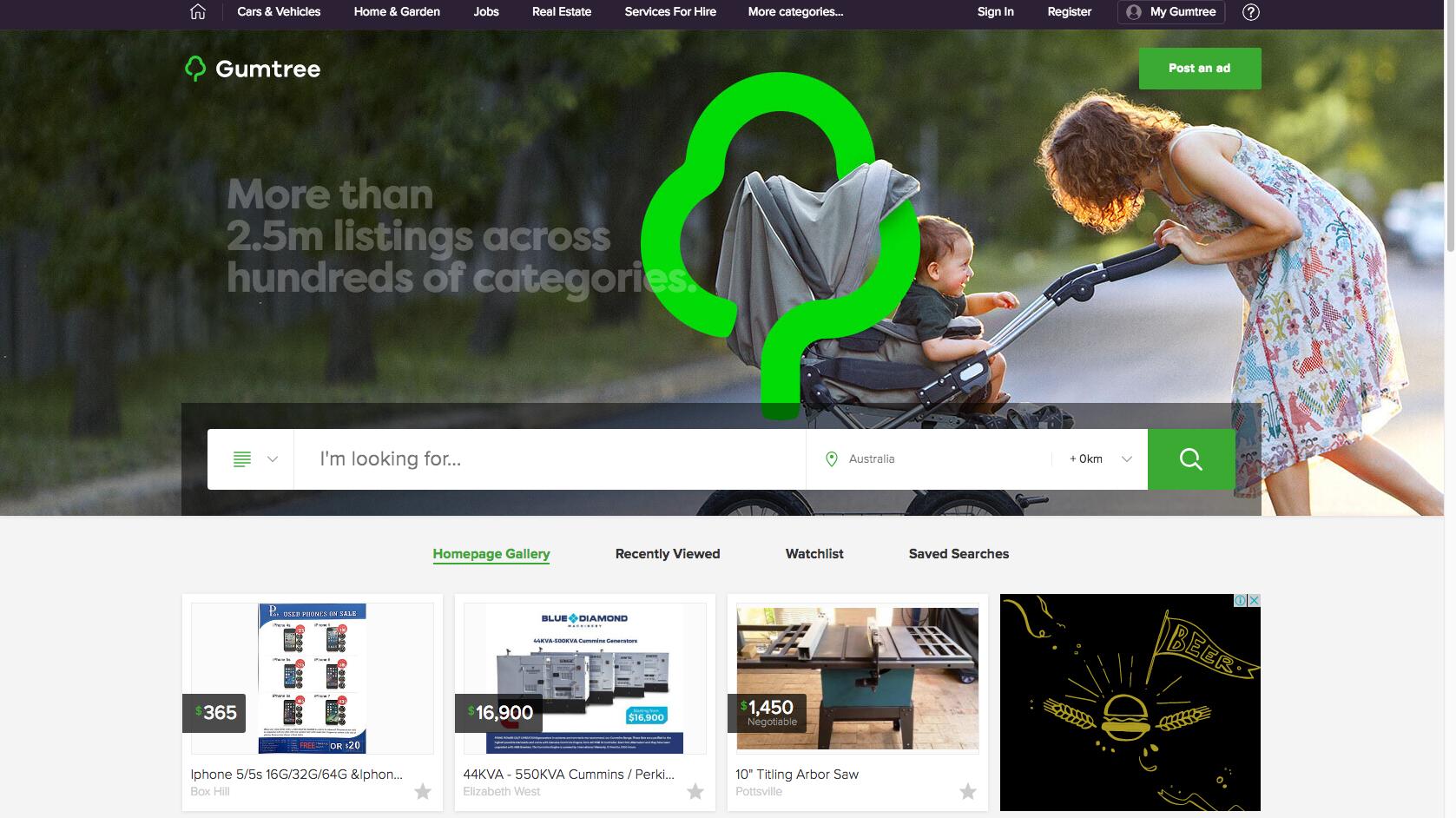 gumtree australia new site