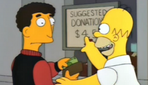 the simpsons suggested donation